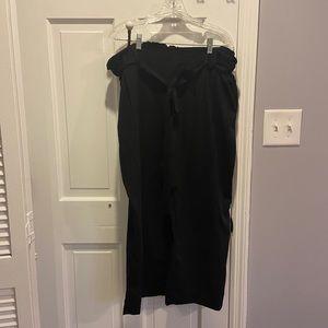Paperbag Black Dress Pants